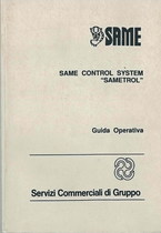"""SAME CONTROL SYSTEM """" SAMETROL"""" - Libretto uso & manutenzione"""