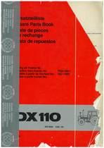 DX 110 - Ersatzteilliste / Spare Parts Book / Liste de pièces de rechange / Lista de repuestos