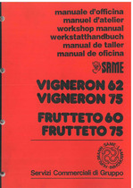VIGNERON 62 - 75 - FRUTTETO 60 - 75 - Workshop manual