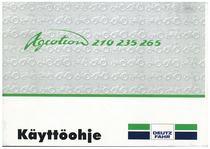 AGROTRON 210-235-265 - Käyttöohje