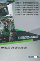5090 C ->ZKDY360200TD10001 - 5100 C ->ZKDY400200TD10001 - 5100 C ->ZKDY480200TD10001 - 5110 C ->ZKDY440200TD10001 - 5110 C ->ZKDY520200TD10001 - 5120 C ->ZKDY560200TD10001 - Manual do operador