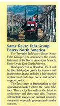SAME Deutz-Fahr Group enters North America