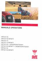 VIRTUS 100 - VIRTUS 100 INFINITY - VIRTUS 110 - VIRTUS 110 INFINITY - VIRTUS 120 ->ZKDAZ902W0TS20001 - VIRTUS 120 INFINITY ->ZKDBA302W0TS20001 - VIRTUS 130 - VIRTUS 130 INFINITY - Manuale operatore