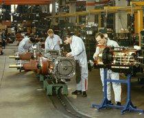 Linea assemblaggio trattori dello stabilimento di Treviglio