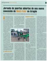 Jornada de puerta abiertas de nueva concesion de Deutz-Fahr en Aragon