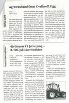 Hurlimann 75 Jahre jung-H-100-Jubiläumstraktor