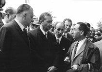 Fiera di Foggia - Lancio del trattore SAME Centauro alla presenza del Presidente del Consiglio dei Ministri On. Aldo Moro
