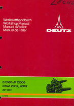 D 25 06 - D 130 06 - INTRAC 2002 - INTRAC 2003 - Regelhydraulik K-Reihe - Hydraulic system-K series - Relevage hydraulique-série K - Regulador hidraulico-serie K - Werkstatthandbuch - Worskhop manual - Manuel d'atelier - Manual de taller