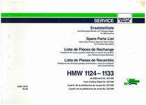HMW 1124-1133 - Ersatzteilliste / Liste de Pièces de Rechange / Spare Parts List / Elenco dei Pezzi di Ricambio / Lista de Piezas de Recambio