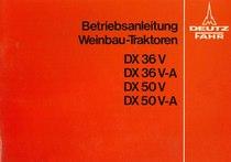 DX 36 V-DX 50 V - Bedienungsanleitung