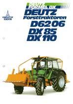 DEUTZ-FAHR Forsttraktoren D6206-DX 85-DX110