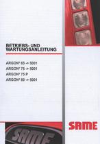 ARGON³ 65 ->5001 - ARGON³ 75 ->5001 - ARGON³ 75 P - ARGON³ 80 ->5001 - Betriebs und Wartungsanleitung