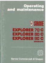 EXPLORER 70 C - 80 C - 90 C ERGOMATIC - Operating and maintenance