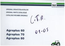 AGROPLUS 60-70-80 - Original Ersatzteilkatalog / Original parts catalogue / Catalogo ricambi originali