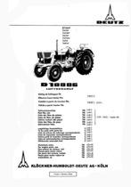 D 10006 - Ersatzteilliste / Spare parts catalogue / Catalogue de pièces de rechange / Lista de repuestos