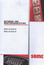 IRON 135 DCR 4V - IRON 155 DCR 4V - Betriebs und Wartungsanleitung