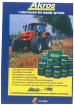 AKROS - I lubrificanti del mondo agricolo