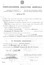 Atto di omologazione della trattrice Hürlimann H 480 A