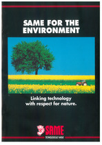 SAME for the environment: Linking technology with respect for nature