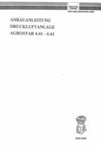 DRUCKLUFTANLAGE AGROSTAR 4.61 - 6.61 - Anbauanleitung