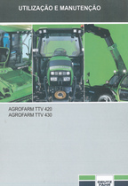 AGROFARM TTV 420 - AGROFARM TTV 430 - Utilização e manutenção