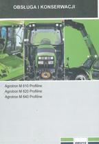 AGROTRON M 610 PROFILINE - AGROTRON M 620 PROFILINE - AGROTRON M 640 PROFILINE - Obsluga i konserwacji