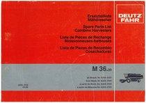 M 36.30 - Ersatzteilliste / Liste de Pièces de Rechange / Spare Parts List / Elenco dei Pezzi di Ricambio / Lista de Piezas de Recambio