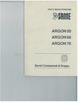 ARGON 50 - 60 - 70 - Libretto uso & manutenzione