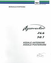 ASSALE ANTERIORE E ASSALE POSTERIORE AGROVECTOR 26.6 E AGROVECTOR 30.7 - Manuale d'officina