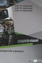 6160 TTV AGROTRON - 6180 TTV AGROTRON - 6190 TTV AGROTRON - Operator's manual
