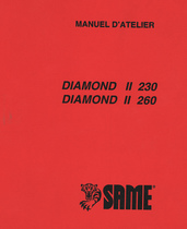 DIAMOND II 230 - DIAMOND II 260 - Manuel d'atelier