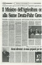 Il ministro dell'Agricoltura on. Giovanni Alemanno alla SAME Deutz-Fahr Group S.p.a di Treviglio