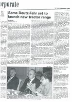 SAME Deutz- Fahr set to launch new tractor range
