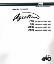 AGROTRON 80 de la matr. 8081 6001 - AGROTRON 90 de la matr. 8085 6001 - AGROTRON 100 de la matr. 8087 6001 - AGROTRON 105 de la matr. 8088 6001 - Manuel d'atelier