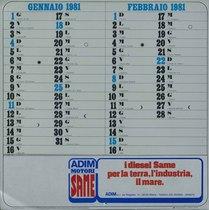 Calendario 1981