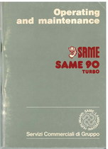 SAME 90 TURBO - Operating and maintenance