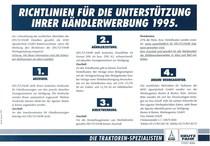 Richtlinien fuer die Unterstuetzung Ihrere Haendlerwerbung 1995