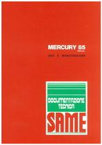 MERCURY 85 Export - Libretto uso & manutenzione