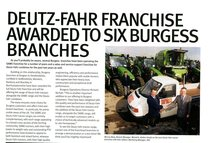 Deutz-Fahr franchise awarded to six burgess branches