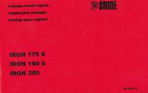IRON 175 S-190 S-200 - Catalogo ricambi originali / Original parts catalogue / Catálogo peças originais