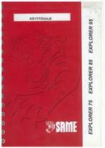 EXPLORER 75 - 85 - 95 - Käyttöhje