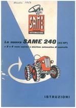 LA NUOVA SAME 240 - Libretto uso & manutenzione