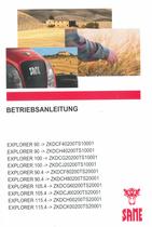 EXPLORER 90 ->ZKDCF40200TS10001 - EXPLORER 90 ->ZKDCH40200TS10001 - EXPLORER 100 ->ZKDCG20200TS10001 - EXPLORER 100 ->ZKDCJ20200TS10001 - EXPLORER 90.4 ->ZKDCF80200TS20001 - EXPLORER 90.4 ->ZKDCH80200TS20001 - EXPLORER 105.4 ->ZKDCG60200TS20001 - EXPLORER 105.4 ->ZKDCJ60200TS20001 - EXPLORER 115.4 ->ZKDCH00200TS20001 - EXPLORER 115.4 ->ZKDCK00200TS20001 - Betriebsanleitung
