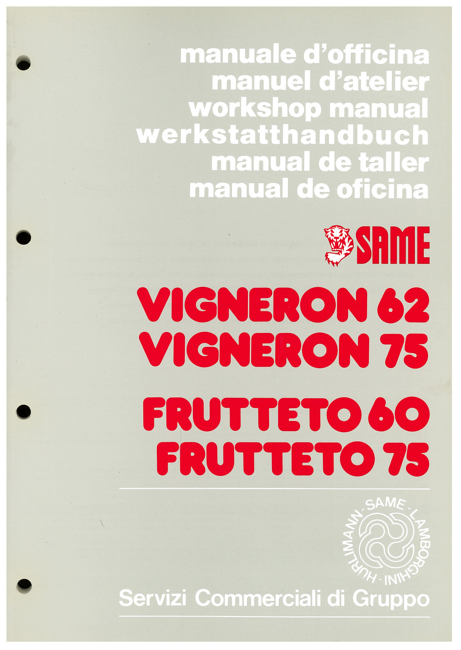 VIGNERON 62-75 FRUTTETO 60-75 - Manual de taller