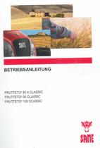 FRUTTETO³ 80.4 CLASSIC - FRUTTETO³ 90 CLASSIC - FRUTTETO³ 100 CLASSIC - Betriebsanleitung