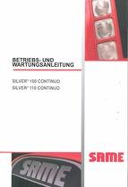 SILVER³ 100-110 CONTINUO - Betriebs und Wartungsanleitung