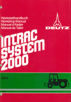 INTRAC 2002 - Fahrgestell - Chassis - Chassis - Cuerpo del tractor - Werkstatthandbuch - Workshop manual - Manuel d'atelier - Manual de taller
