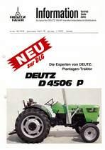 DEUTZ-FAHR D4506 P INFORMATION VERTRIEB