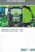 AGROFARM 420 PROFILINE ->25001 - AGROFARM 430 PROFILINE ->15001 - Uso e manutenzione
