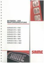 DORADO S70-75-90-100 - Bedienung und instandhalthung
